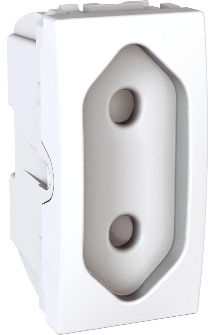 Zásuvka UNICA pro ploché vidlice, 1 modul (Polar)