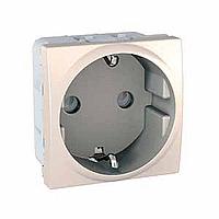 Zásuvka UNICA dle VDE - Schuko, 2 moduly (Marfil)