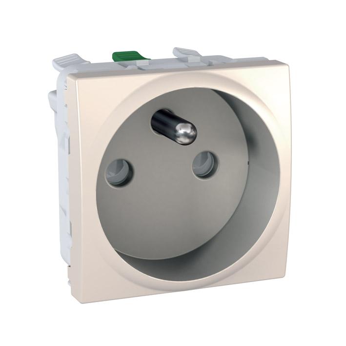 Zásuvka UNICA s clonkami, 2 moduly (Marfil) - bezšroub.svorky