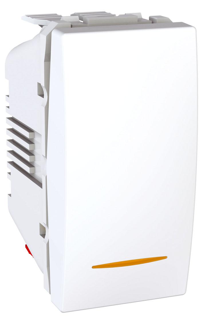 Spínač UNICA jednopólový, 1 modul, řazení 1Ss (Polar)