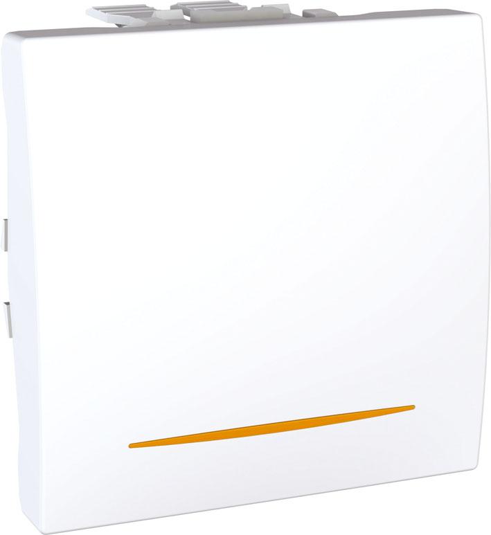Spínač UNICA jednopólový, 2 moduly, řazení 1Ss (Polar)