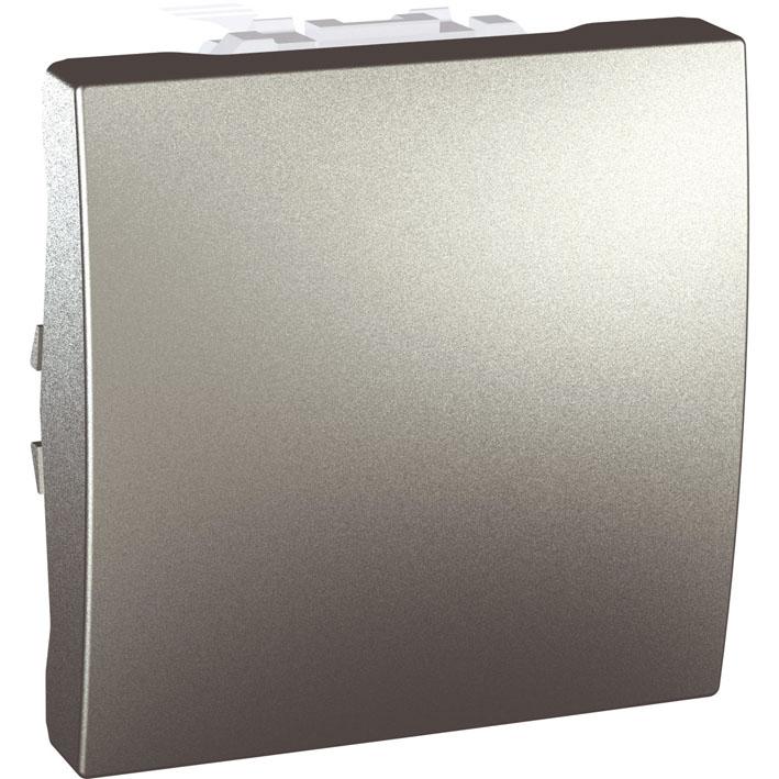 Spínač UNICA jednopólový, 2 moduly, řazení 1 (Aluminium)