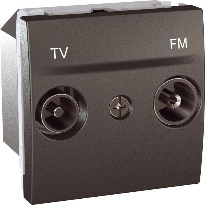 Zásuvka UNICA TV-R koncová, 2 moduly (Grafit)