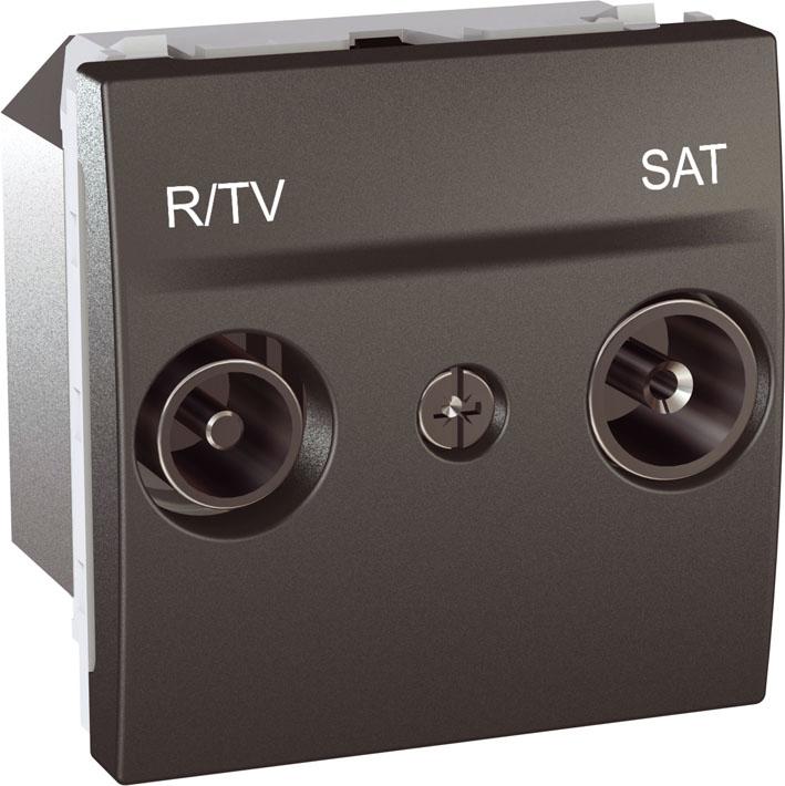 Zásuvka UNICA TV-R-SAT koncová, 2 moduly (Grafit)