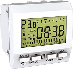 Termostat UNICA týdenní programovatelný pro podlahované vytápění, 2 moduly (Polar)