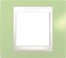 Rámeček UNICA Plus jednonásobný Marfil - Manzana