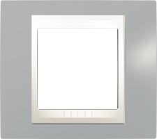 Rámeček UNICA Plus jednonásobný Marfil - Fog