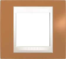 Rámeček UNICA Plus jednonásobný Marfil - Orange