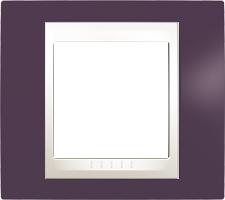 Rámeček UNICA Plus jednonásobný Marfil - Garnet