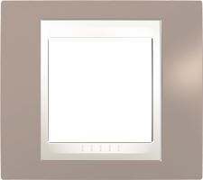 Rámeček UNICA Plus jednonásobný Marfil - Mink