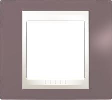 Rámeček UNICA Plus jednonásobný Marfil - Mauve
