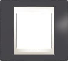Rámeček UNICA Plus jednonásobný Marfil - Slate