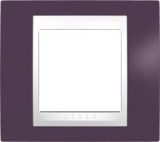 Rámeček UNICA Plus jednonásobný Polar - Garnet