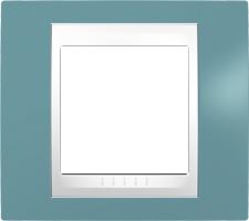 Rámeček UNICA Plus jednonásobný Polar - Manganese