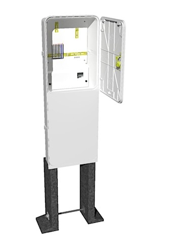 Elektroměrový rozvaděč PER 1/3f/40 v pilíři (AHVO)