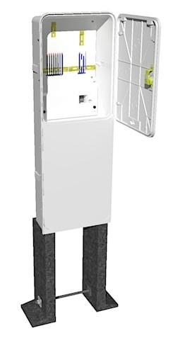 Elektroměrový rozvaděč PER 2/3f/40 v pilíři (AHVO)