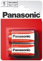 Zinkouhlíková baterie C Panasonic Red Zinc R14RZ (2ks v blistru)
