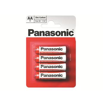 Zinkouhlíková baterie AA Panasonic Red Zinc R6RZ (4ks v blistru)