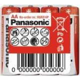 Zinkouhlíková baterie AA Panasonic Red Zinc R6RZ (4ks ve fólii)