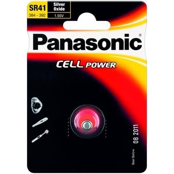 Stříbrooxidová baterie 45 Panasonic Cell Power SR41 (1ks v blistru)