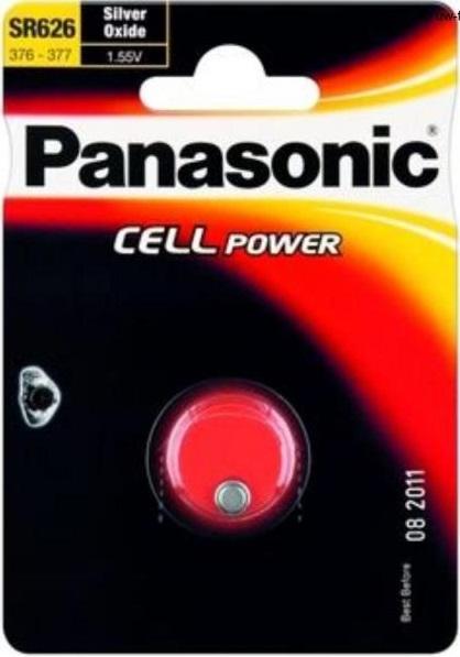Stříbrooxidová baterie 28 Panasonic Cell Power SR626 (SR-626EL/1B) (1ks v blistru)