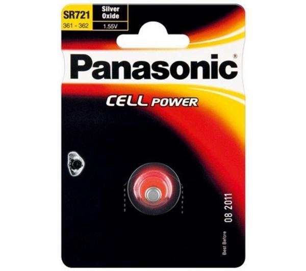Stříbrooxidová baterie 25 Panasonic Cell Power SR721 (SR-721EL/1B) (1ks v blistru)
