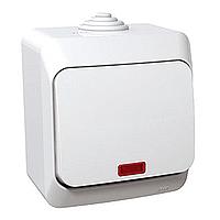 Spínač Cedar Plus jednopólový s orientační kontrolkou (bílá)