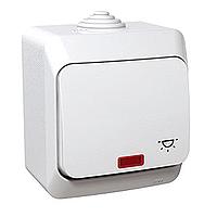 Ovládač Cedar Plus jednopólový 'světlo' s orientační kontrolkou (bílá)