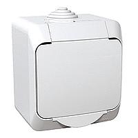 Vodotěsná zásuvka CEDAR (IP44) bílá