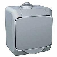 Zásuvka Cedar Plus jednonásobná s clonkami (šedá)