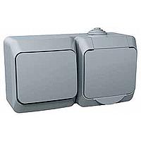 Kombinace Cedar Plus - spínač jednopólový + zásuvka (šedá)
