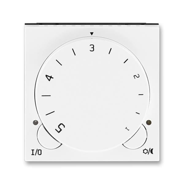 Termostat univerzální s otočným nastavením teploty LEVIT Bílá / Bílá (ABB 3292H-A10101 03)