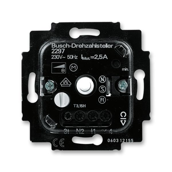 Přístroj regulátoru otáček ventilátoru pro otočné ovládání a spínání z maximální hodnoty (ABB 3294U-A00130)