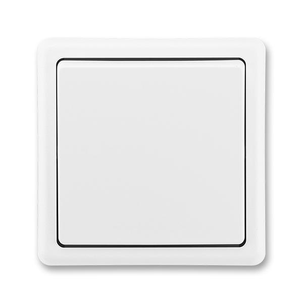 Spínač dvojpólový CLASSIC Jasně bílá (ABB 3553-02289 B1)
