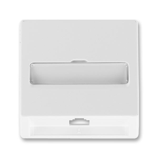 Kryt zásuvky telefonní jednonásobné CLASSIC Jasně bílá (ABB 5013C-A00213 B1)
