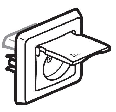 Zásuvka Cariva IP44 (bílá)