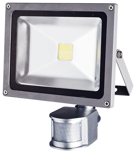 LED reflektor TOMI MCOB 20 W s čidlem pohybu