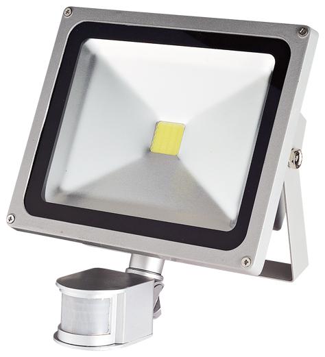 LED reflektor TOMI MCOB 30W s čidlem pohybu
