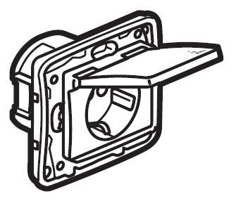 Zásuvka Niloé IP44 (SCHUKO) - bílá