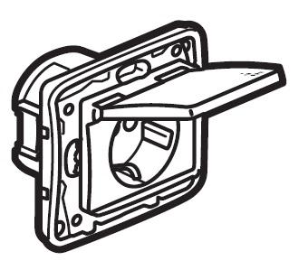 Zásuvka Niloé IP44 (bílá)