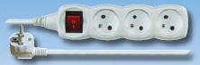 Prodlužovací kabel s vypínačem 3m / 3 zásuvky