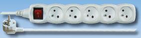 Prodlužovací kabel s vypínačem 3m / 5 zásuvek
