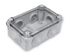 Instalační krabice S-box 206, s vývodkami a průhledným krytem