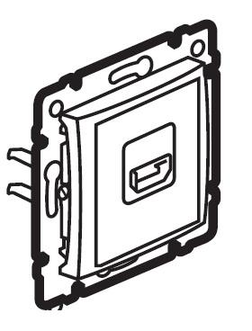 Audio a video zásuvka HDMI Valena - bílá