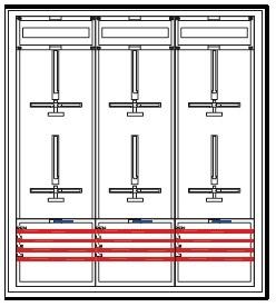 Elektroměrový rozvaděč pro 6 měření