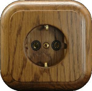 Zásuvka jednonásobná - SCHUKO - Natural LXD